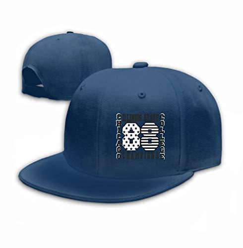 Xunulyn Unisex Mesh Hat Adult Baseball Caps Sunshade Hat Snapback Cap Chicago Typography Printing Design Illinois original Navy