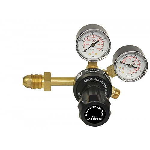 Price comparison product image Argon CO2 Gas Bottle Welder Welding Regulator Side Entry Twin 2 Gauge Single Stage 2142