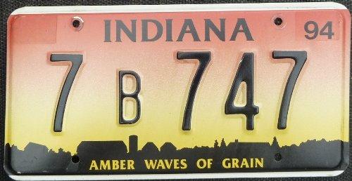 Amber Wave (USA Nummernschild INDIANA ~ US Kennzeichen AMBER WAVES OF GRAIN ~ Blechschild)