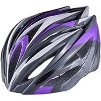 EP-Helmet Casco De La Bici De Montaña, 21 Respiraderos, Código, con El Ajustador,Purple