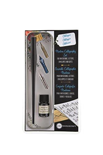 Manuscript Pen Company MDP402 - Juego de rotuladores de caligrafía moderno, color negro