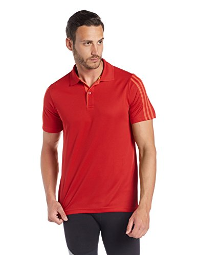 adidas Men's Synthetic Polo Shirts (4055007316490_adidas-DF-RED-POLO_XL_X-Large_Red)