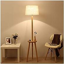 THOR-BEI Lámpara de pie Moderna y Creativa de Madera Maciza, lámpara de Mesa
