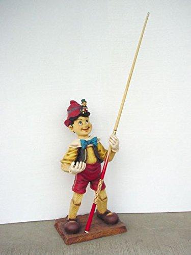 Pinocchio als Queue-Halter lebensgroß 103cm für draußen aus Polyresin