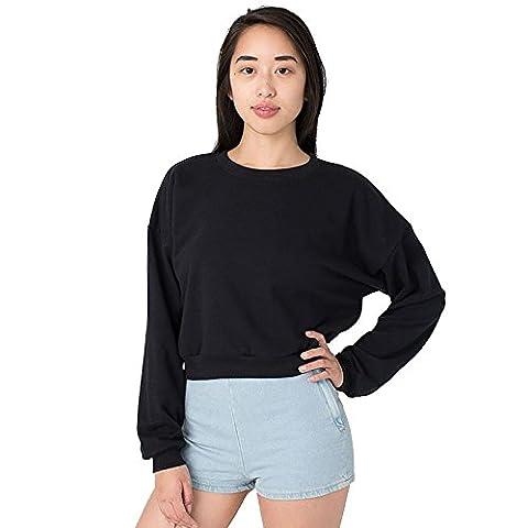 American Apparel - Sweat-shirt - Moderne - Femme Taille Unique - noir - Taille Unique
