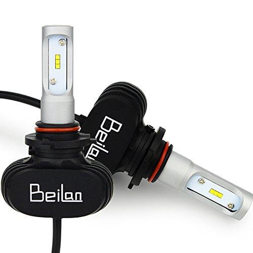 BeiLan Auto Scheinwerfer Glühlampen 25W 4000LM 6500K Superhell Weißes Licht Wasserdicht IP65 mit CSP-Chip DC9-32V Ersetzen für Halogen oder HID Außenlampen Birne (2 stücke ohne CANBUS)
