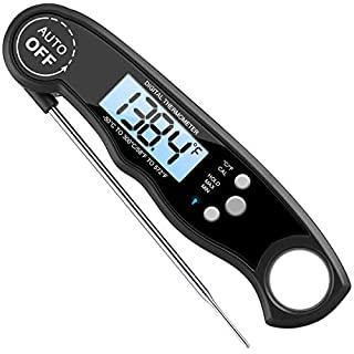 Brifit Digital Food Thermometer, Waterproof Cooking Instant Read Thermometer Electronic Meat Thermometer with Probe for Kitchen Cooking, BBQ, Poultry, Grill Food, Fast & Auto On/Off [Battery Included]