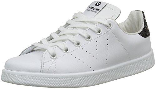 Victoria Deportivo Basket Piel - Sneaker Unisex Adulto, colore bianco e nero brillante, taglia 39