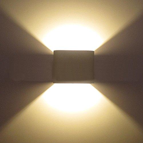 Topmo-2-pezzi-7-W-LED-luci-da-parete-bianco-lampade-da-parete-di-alta-qualit-in-alluminio-corridoio-proiettore-Up-e-Down-Design-2700-K-luce-bianco-caldo