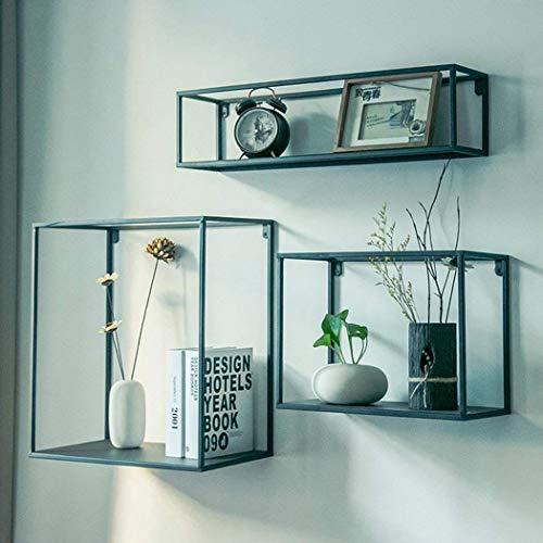 CFJJ Retro Wandregal 3 Set Regale schwimmende Wandregal für Schlafzimmer Wohnzimmer Badezimmer Büro Küche
