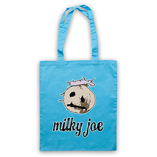 Inspiriert durch Mighty Boosh Milky Joe Coconut Inoffiziell Umhangetaschen Hellblau