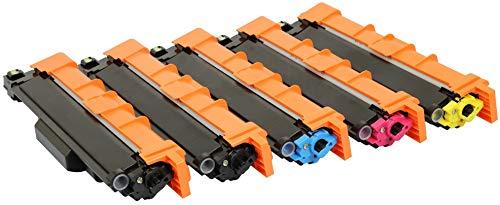 TONER EXPERTE® TN243 TN247 5 Toner kompatibel für Brother DCP-L3510CDW DCP-L3550CDW HL-L3210CW HL-L3230CDW HL-L3270CDW MFC-L3710CW MFC-L3730CDN MFC-L3750CDW MFC-L3770CDW -