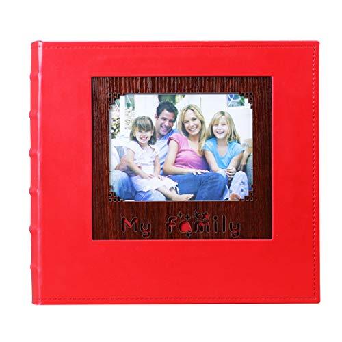 Interstitial-Retro-Album, Familienfotoalbum mit hoher Kapazität kann gespeichert Werden 680 Fotos Fotos Tourismus lieben (Color : Red) ()
