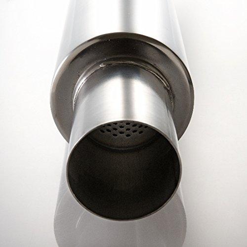 76mm Universal Edelstahl Schalldämpfer rund D= 150mm Länge= 275mm V2A