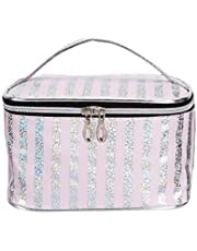 Amazon Brand - Solimo Cosmetic Pouch Light Pink T1906308A