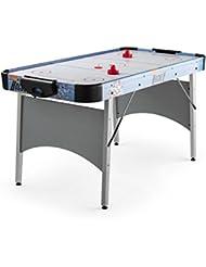 """OneConcept Polar Combat mesa de hockey aire (6"""", 76x82x161 cm, air hockey, sistema de ventilacón silencioso, contador de puntos, 2 discos, 2 empujadores) - plateado"""