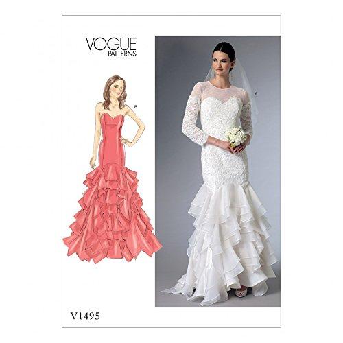 Vogue Patterns Mesdames Petite Tailles 1495 Sweetheart décolleté Patron de Couture Robe avec volants
