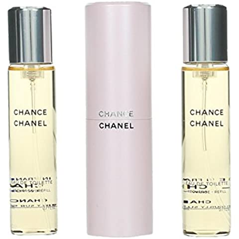 Chanel Chance Set Regalo Eau de Toilette, Donna, 20 ml & 2 x Refill, 2 x 20 ml