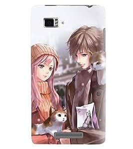 Printvisa Couples Holding A Cat Back Case Cover for Lenovo Vibe Z K910