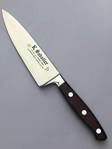 K Sabatier - Cuisine Large 15 Cm K Sabatier - Gamme Elegance - Acier Inoxydable - Manche Bois - 100% Forge - Entièrement Fabrique En France