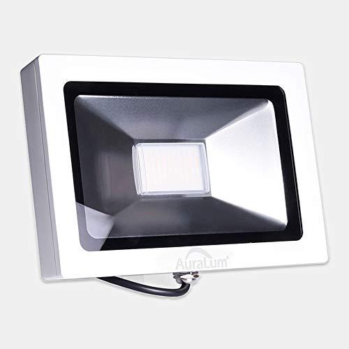 Auralum LED Flutlicht Fluter Strahler 30W Ultraslim Außenleuchte 2400LM 4000K Naturweiß IP65 Wasserdicht Fluter für Sportplatz Garage Garten Hinterhof Floodlight LED Flutlichtstrahler