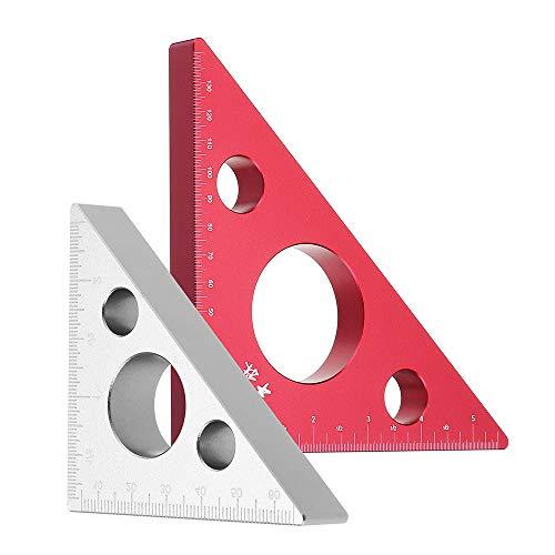 Tischler-Messwerkzeug, quadratisches gerades Lineal, 2 Stück, Aluminium-Dreieck-Lineal aus Aluminiumlegierung, 150mm 68mm, Winkel-Winkelmesser für Holzbearbeitungswerkzeug