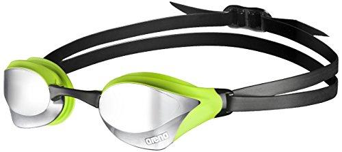arena Unisex Training Wettkampf Schwimmbrille Cobra Core Mirror (Verspiegelt, UV-Schutz, Anti-Fog Beschichtung), silber (Silver-Green), One Size