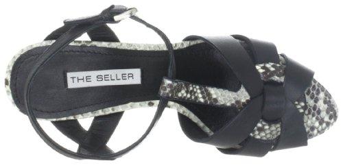 The Seller Adine S511, Sandali donna Nero (Schwarz (bianco/nero))