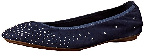 Hush Puppies Ballet Lolly Chaste Flat Navy Suede