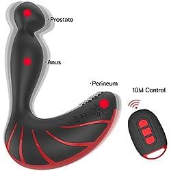 Xoolover Perineum Prostata Massage Medizinischem Silikon Vibratoren Stimulator Vorsteherdrüse Anal Butt Plug Analvibratoren [30 Vibrationsmodi - Lautlos, Garantie, Geruchlos & Wasserdicht] Sex-spielzeug für Männer oder paar