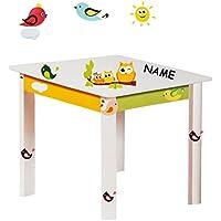 Preisvergleich für alles-meine.de GmbH Tisch für Kinder - aus Sehr stabilen Holz - lustige Eulen auf Dem AST - Weiß..