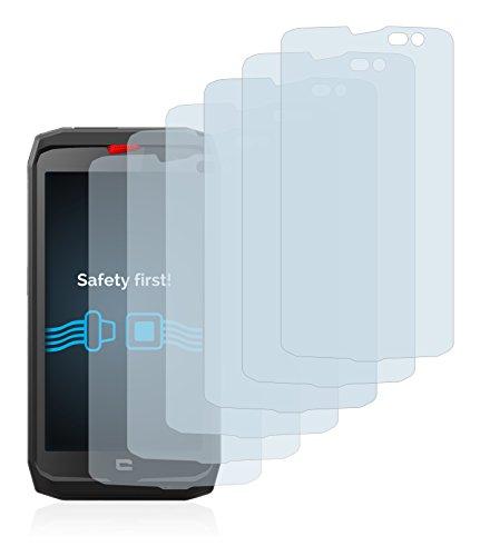 Savvies Schutzfolie für Crosscall Action X3 [6er Pack] - klarer Displayschutz