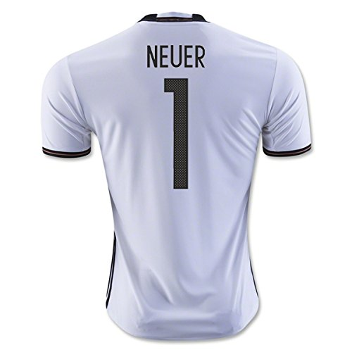 "adidas Herren Heimtrikot UEFA Euro 2016 DFB Replica (Neuer 1, Small 36-38"" Chest)"