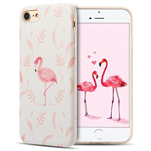 Cover iPhone 7 Case iPhone 8 Custodia Spiritsun Moda Soft TPU Case Christmas Kawaii Cover High Quality Scintillante Luminoso Case Elegante Souple Flessibile Liscio Copertura Perfetta Protezione Shell  Flamingo 2