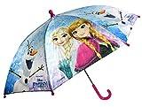 Chanos Frozen Manual Safety Runner Poe Embossed Folding Umbrella, 38 cm, Light Blue Regenschirm, Blau (Light Blue)