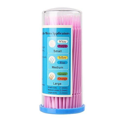Beauty7 100 x 1.0 MM bâtons Micro Brosse Pinceau Applicateur Pour Dissolvant Extensions de Cils Dentaires Démaquillant
