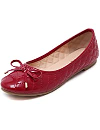 smilun Lady bailarina ballet Flat Loafer Checked, lentejuelas pajarita