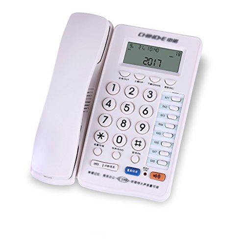 Telefon Heim verdrahtet Telefon Business-Büro Festnetz Anrufer ID fest Telefon 210 * 162 * 84mm (2 Farben erhältlich) (Farbe : Weiß) (Heim-telefon-headset)