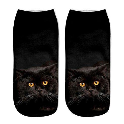 Beliebte, lustige Unisex-Socken mit 3D-Katzenmotiv