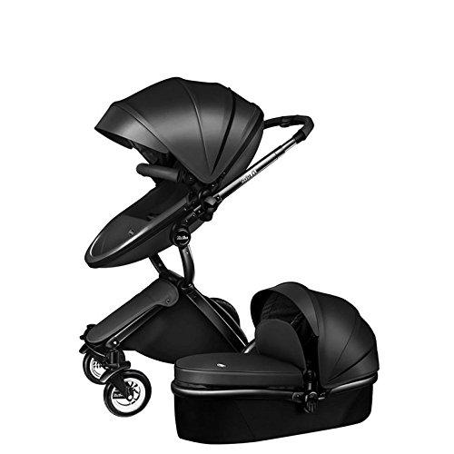 XINYU Cochecito De Bebé De Dos Vías Carrito De Bebé De Dos Vías Con Cesta Para Dormir,Black