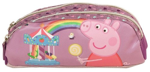 Decorata Party 501000704 – Portatodo 2 cremalleras arcoiris peppa pig