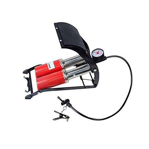 Fornateu Tragbare Stahl Doppelzylinder Pedal Spiegel Barometer Pumpe Auto-Fahrrad-Air-Fuss-Pumpe mit Manometer Reifen Kugel Inflator