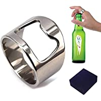 Práctico abridor de botellas de acero de titanio anillo para hombres mujeres 12