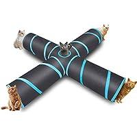 hothuimin Túnel de 4 vías para gatos, para uso en interiores y exteriores, para gatos, perros, cachorros, conejos, 12-STXZL