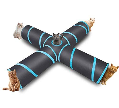 hothuimin Premium 4WAY Cat tunnel Large indoor outdoor Play giocattolo tunnel tubo per gatti cani conigli Puppy # 12-stxz