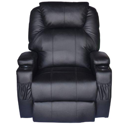 Homcom® Massagesessel Fernsehsessel mit Heizfunktion und Massagefunktion schwarz - 3