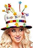 Karneval-Klamotten Hut Geburtstag Happy Birthday Geburtstagstorte Geburtagshut bunt mit Kerzen