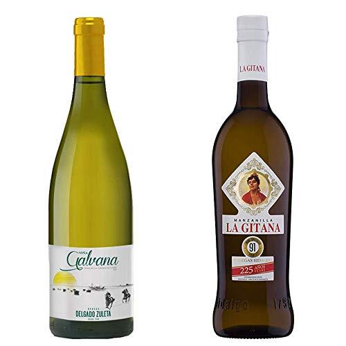 Viña Galvana Y Manzanilla La Gitana - Vino De La Tierra De Cádiz Y D. O. Manzanilla De Sanlúcar De Barrameda - 2 Botellas De 750 Ml