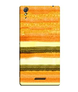 Fuson Designer Back Case Cover for Sony Xperia T3 (Parallel Lines Blocks Curtain Pattern)