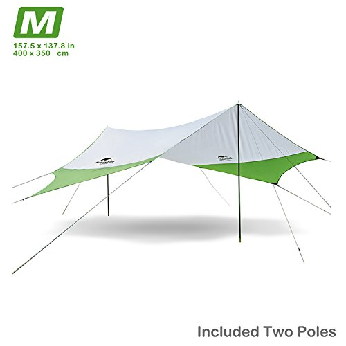 Naturehike Camping Plane Strand Zelt Schatten Sun Shelter Vorzelt Himmel mit Stangen, leicht tragbar...